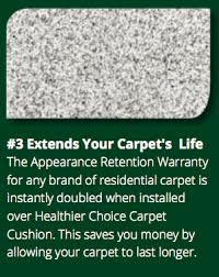 healthier choice carpet cushion u2014 kaiser hospitality