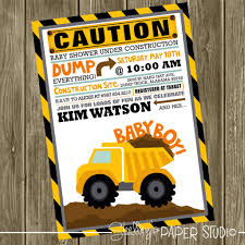 construction baby shower baby shower invitation construction baby shower invite regarding