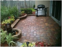 Outdoor Patio Ideas For Small Spaces Backyards Wonderful Paver Patio In A Small Space Brick Bordered