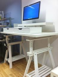 Stand Up Office Desk Ikea Materials Expedit Shelves Vika Amon Corner Desk Top Capita Legs