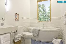 bathroom chair rail ideas ideas of a bathroom with subway tile and chair rail