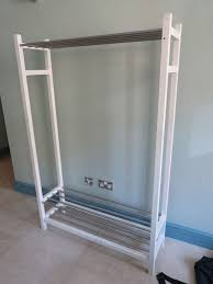 white metal hemnes ikea clothes rack rail in liverpool