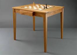 Chess Table Handmade Custom Wood Chess Tables