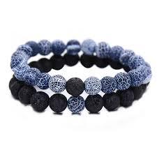 bangle beaded bracelet images 2pcs set couples jewelry classic distance bracelet bangle for men jpg
