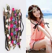 flower hairband discount women girl boho flower headband for women floral