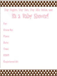blank baby shower invitations templates 5690
