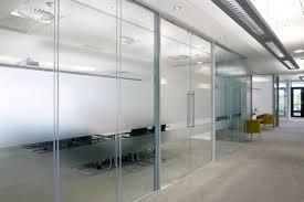 wall partition frameless double glazed glass walls avanti systems usa