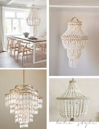 Beaded Chandelier Diy Cool Seashell Chandelier Diy As Your Own Personal Residence