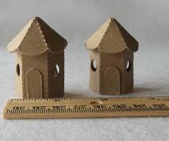tiny fairy house cardboard diy set of 2