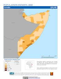 Map Of Somalia Maps Global Rural Urban Mapping Project Grump V1 Sedac