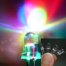 electronic components led lights 100pcs lot rgb full color rainbow ultra bright led fast flashing