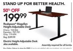 realspace magellan height adjustable desk office depot and officemax black friday 2017 ad deals sales