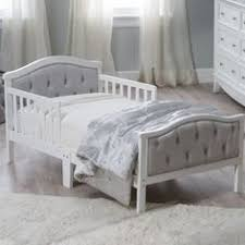 orbelle upholstered toddler bed gray french white every dream