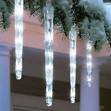 led dripping icicle christmas lights holiday time battery operated 8 piece led dripping icicle christmas