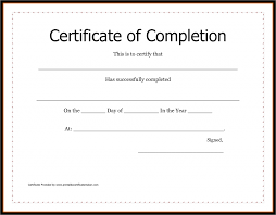 examples of certificates of completion certificate of achievement sample free business form templates