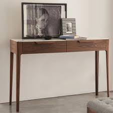 Oak Console Table With Drawers Z Oak Designer Console Table With Central Drawers