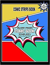 amazon com comic strips book comic book blank pages create