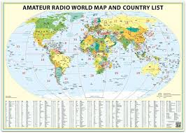Ou Map Amazon Com 24x36 Ham Radio World Map 2017 Edition With The Dxcc