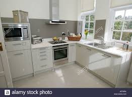 modern white shaker style kitchen england isle of wight uk great