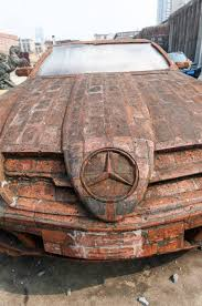 build mercedes artist dai yun uses bricks to build peculiar looking mercedes