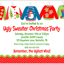 ugly christmas sweater party invitation wording dancemomsinfo com