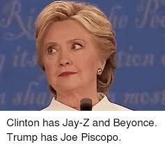 Jay Z Lips Meme - clinton has jay z and beyonce trump has joe piscopo jay meme on me me