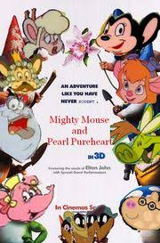 mighty mouse pearl pureheart gnomeo juliet parody