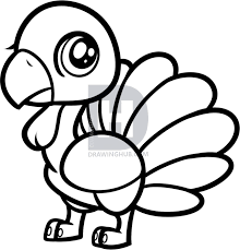 how to draw a chibi turkey for step by step by darkonator