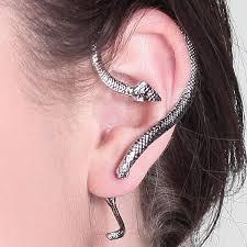 one sided earrings silver snake one sided earring o pearl brands