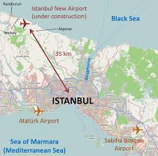Map Of Istanbul File Istanbul International Airport Location Map English Png