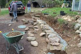 retaining rock wall day two u2013 island farm u0026 garden magazine