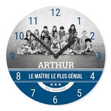 horloge a personnaliser horloge maître maîtresse d u0027école yoursurprise