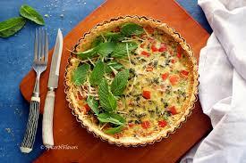 cuisine quiche lorraine quiche lorraine pepper and broccoli quiche spices n flavors