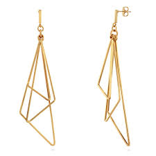 triangle earrings gold tone triangle dangle earrings dangles triangle and