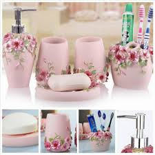 Pink Bathroom Accessories Sets by Princess Style Handcraft Bathroom Set Wedding Decor Bath Accessory