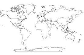 blank continent map for geography geography maps