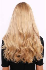 Blonde Weft Hair Extensions by Thick 16 Inch 1 Weft Curly Hair Extensions Lullabellz