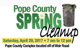 spring clean pope county spring clean up set for saturday april 29