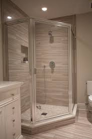 chrome framed neo angle shower enclosure with clear glass door