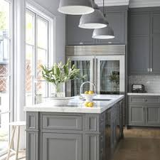 grey kitchen cabinets wood floor 75 beautiful light wood floor kitchen with gray cabinets
