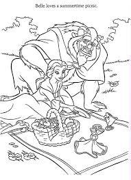 belle beast picnic coloring belle beast