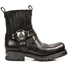 motorcycle footwear mens m 7605 s1 black new rock motorcycle ankle boots motorcycle boots