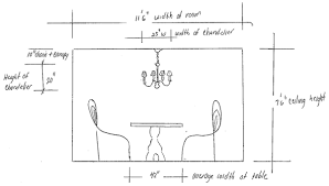 How Do I Size My Dining Room Or Dinette Chandelier - Dining room measurements