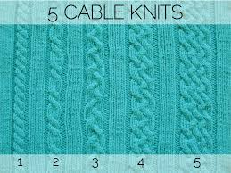 five cable knits cable knitting cable and free pattern