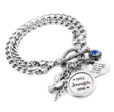 personalized remembrance jewelry engraved memorial bracelet memorial jewelry bracelets and 316l