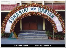 arch decoration wedding entrance arch decorations pondicherry sigaram wedding