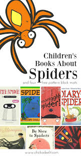 creepy crawly pattern block mats and 13 spider books for kids