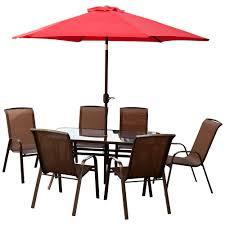 Patio Set Furniture by Courtyard Ashford 8 Piece Patio Furniture Set Aluminium U0026 Steel