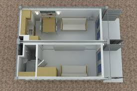 Tiny Container Homes 2x20 Foot Container House V1 View From Above Shipping Container