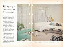 tips for gray interiors from the better home garden 1956